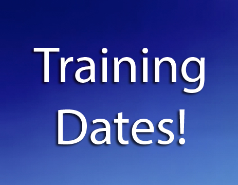 Check back for our 2021-2022 training schedule! Or, just call the office.